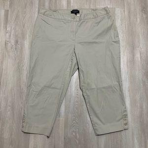 Talbots Khaki Capri Pants Sz 16WP Petite